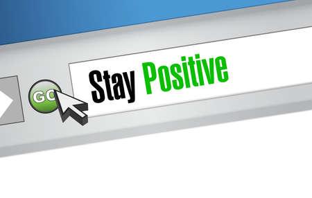 web browser: stay positive web browser sign illustration design graphic Illustration