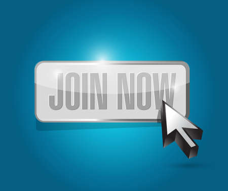 join: Join Now button sign concept illustration design graphic Illustration