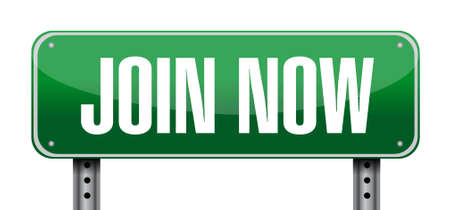 join now: Join Now post sign concept illustration design graphic