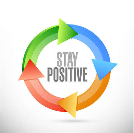 stay: stay positive cycle sign illustration design graphic Illustration