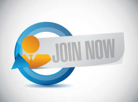 Join Now business avatar sign concept illustration design graphic