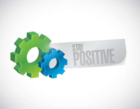 persistence: stay positive gear sign illustration design graphic Illustration