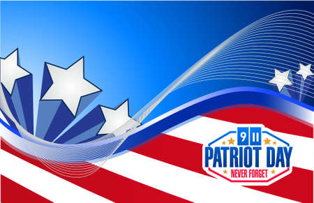 11th: patriot day us flag graphics background illustration design Illustration
