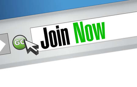 Join Now browser sign concept illustration design graphic Ilustrace
