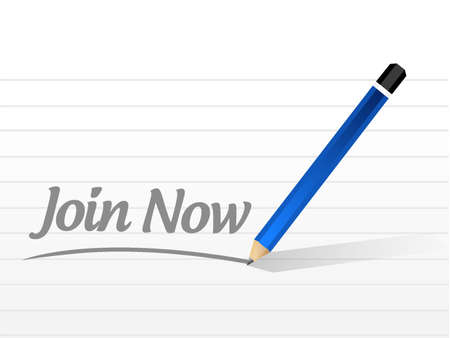 Join Now message sign concept illustration design graphic