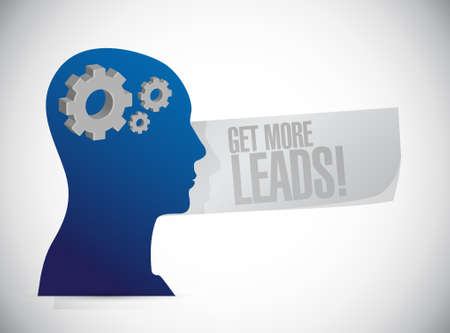 leads: Get More Leads mind sign illustration design graphic