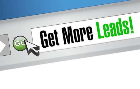 leads: Get More Leads online sign illustration design graphic