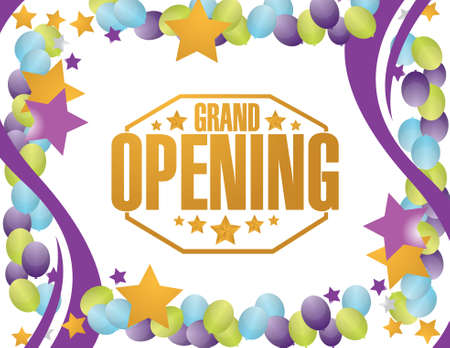 opening: grand opening party background illustration design graphic Illustration