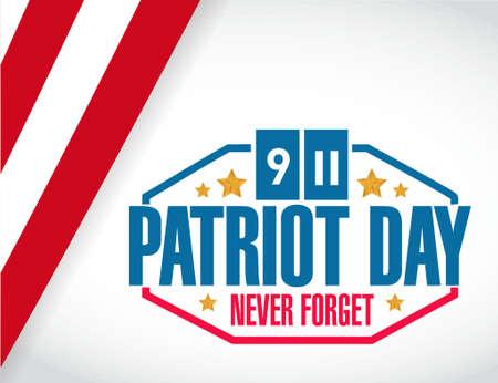patriot: patriot day us stamp illustration design graphic