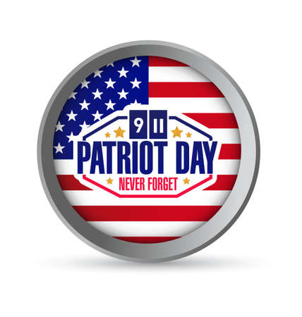 world trade center: patriot day seal illustration design graphic icon Illustration
