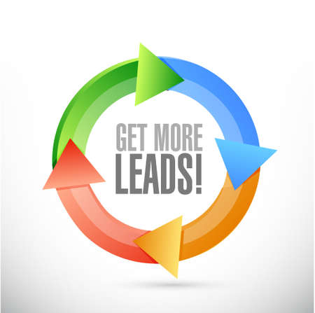 leads: Get More Leads color cycle sign illustration design graphic