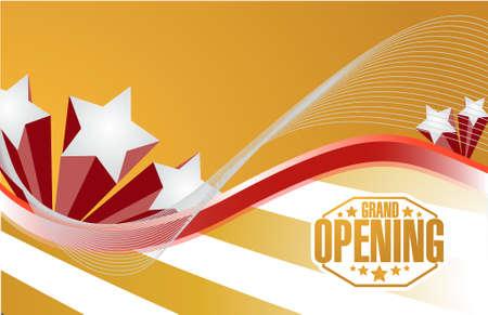 Grand Opening Feier Hintergrund Zeichen, Illustration, Design Standard-Bild - 44945497
