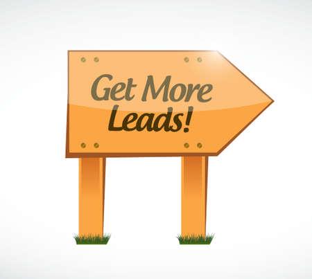 remarkable: Get More Leads wood sign illustration design graphic Illustration