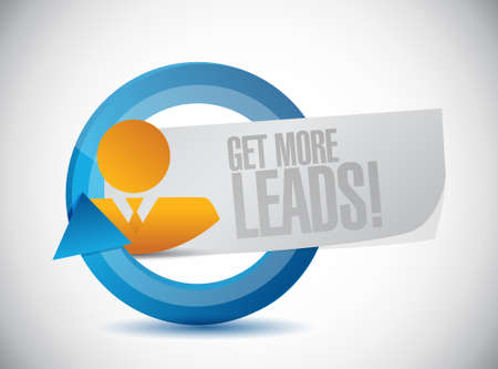 leads: Get More Leads cycle sign illustration design graphic