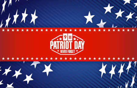 11th: patriot day star banner background illustration design graphic