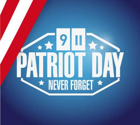 world trade center: patriot day flag background illustration design graphic