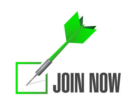check mark sign: Join Now check mark sign concept illustration design graphic