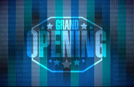 opening party: grand opening modern background illustration design graphic