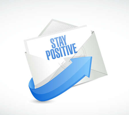 persistence: stay positive mail sign illustration design graphic