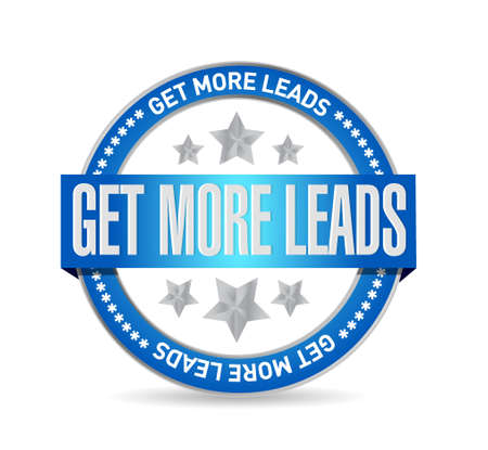 Get More Leads seal sign illustration design graphic Vector Illustration
