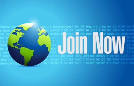 advertise with us: Join Now international binary sign concept illustration design graphic Illustration