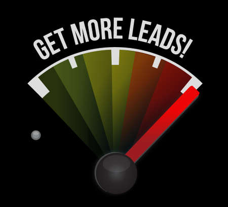Get More Leads meter sign illustration design graphic  イラスト・ベクター素材