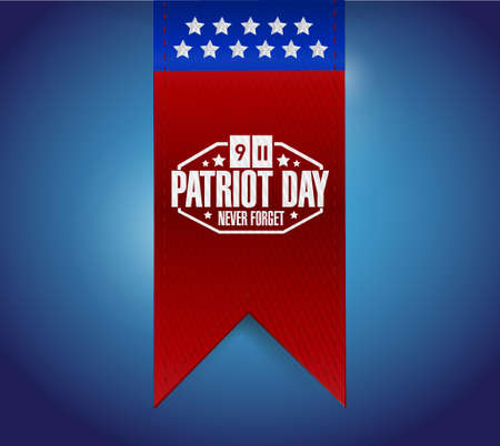 patriot: patriot day sign hanging banner illustration design graphic