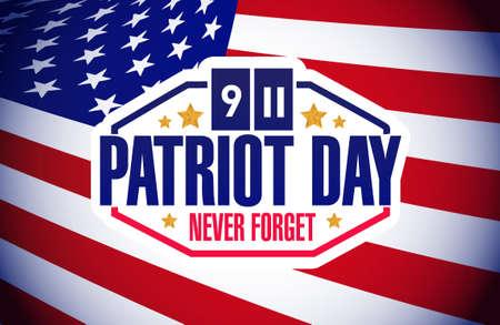 11th: patriot day flag background illustration design graphic