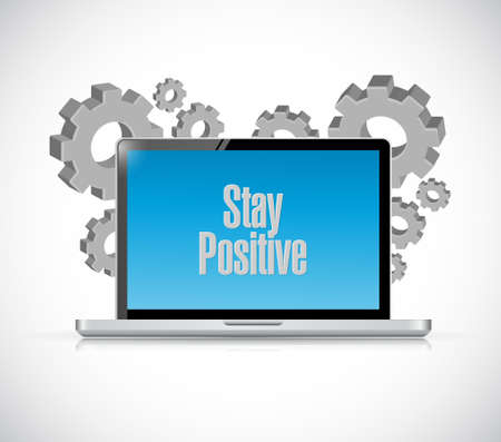 persist: stay positive tech computer sign illustration design graphic Illustration