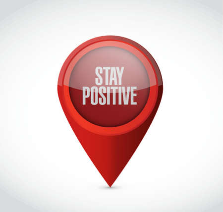 stay: stay positive pointer sign illustration design graphic