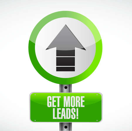 get up: Get More Leads up arrow sign illustration design graphic