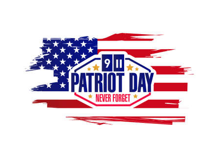 united states: ink patriot day sign illustration design graphic