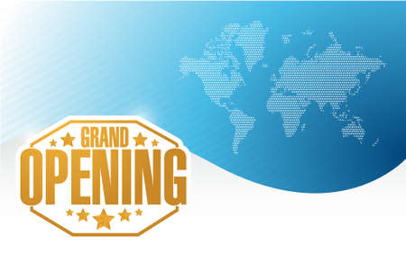 graphic display cards: grand opening gold card background illustration design Illustration