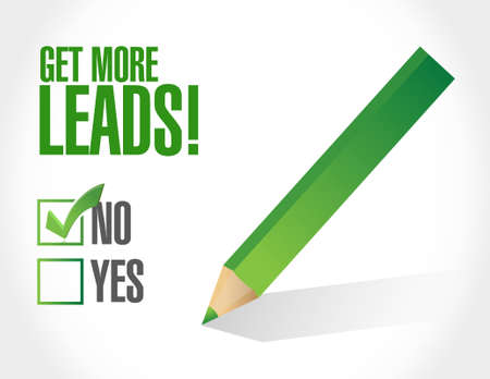 negative to Getting More Leads sign illustration design graphic  イラスト・ベクター素材