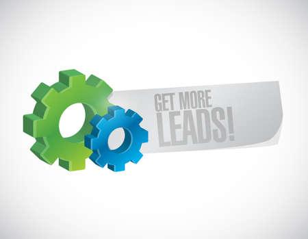Get More Leads gear sign illustration design graphic Illustration