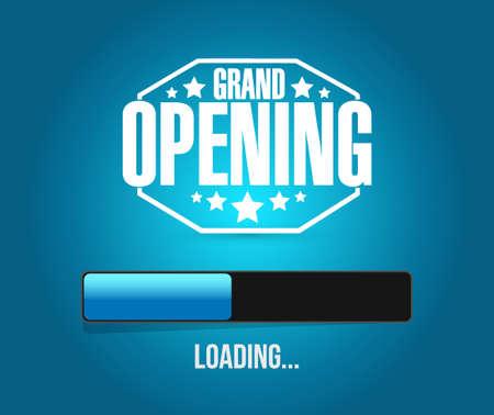 inauguration: grand opening loading bar background illustration design