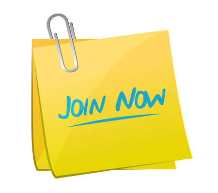 join now: Join Now memo post sign concept illustration design graphic