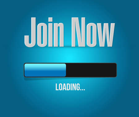 join now: Join Now loading bar sign concept illustration design graphic