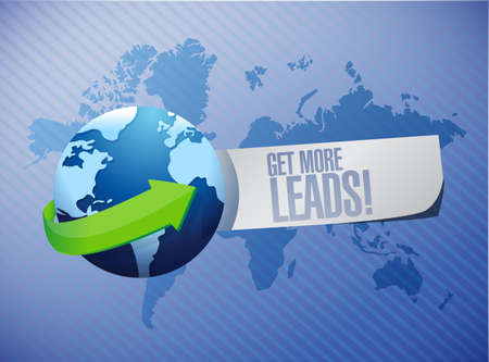 Get More Leads international sign illustration design graphic Stock Photo