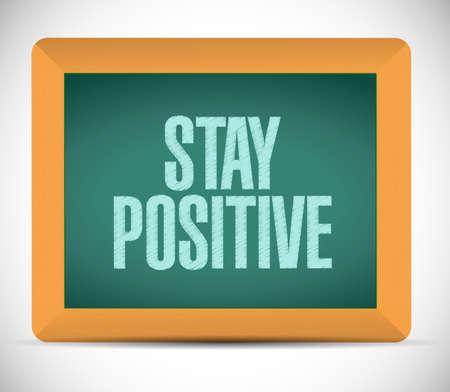 stay positive chalkboard sign illustration design graphic Stok Fotoğraf
