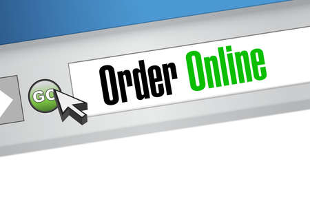 Order online browser web sign concept illustration design graphic Ilustração