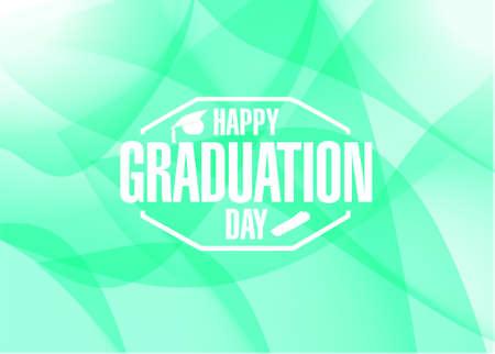 happy graduation day abstract background illustration design graphic Illustration