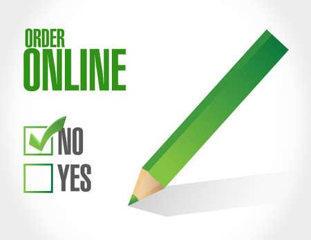 order online: Order online negative concept illustration design graphic