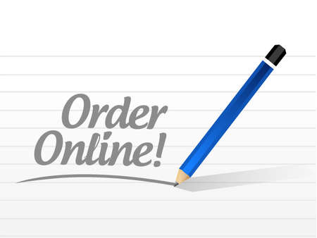 Order online message sign concept illustration design graphic Иллюстрация