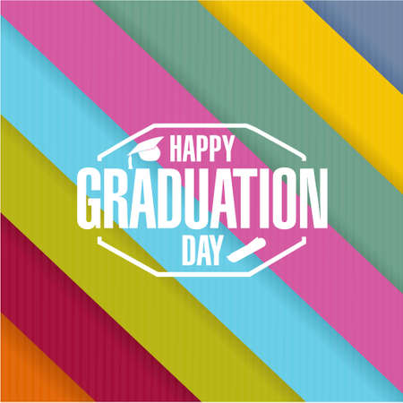 day sign: happy graduation day sign illustration design graphic
