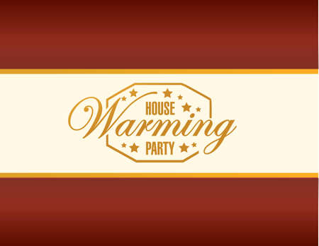 house warming party card background sign illustration design graphic