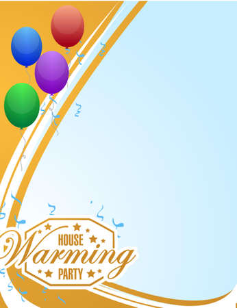 house warming: house warming party balloons background sign illustration design graphic