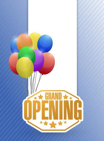 Grand Opening stempel Ballon Hintergrund, Illustration, Design Standard-Bild - 45232441