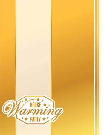 gold house: house warming party gold card background sign illustration design graphic