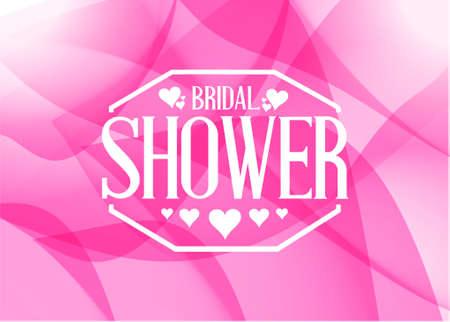 postcard background: bridal shower sign illustration design pink abstract graphic background